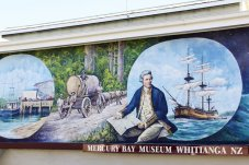 Captain Cook Memorial Mural at the Mercury Bay Museum