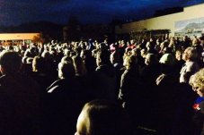 Whitianga Anzac Day dawn service crowds looking on