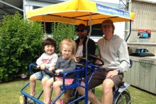 Family fun on Quad Cycle Cruiser Bikes in Whitianga