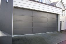Cedar battens - Meranti Ply garage door by Doors 2000 Coromandel