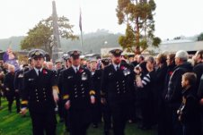 Soldiers parading Anzac Day Dawn service Whitianga