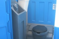 Porta loo hireage Bob's Takeaways Whitianga