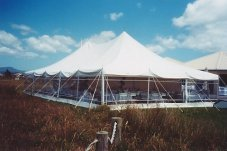 9m x 15m Marquee on sand dunes