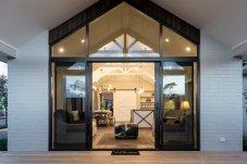 Domestic range sliding doors