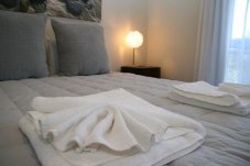 bedding in Oceans Resort Whitianga