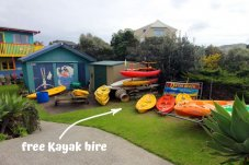Kayaks for hire On the Beach Backpackers Whitianga