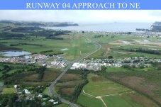 Whitianga Aero Club Airfield Runway 04 Approach to NE