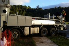 Whitianga Concreting Ltd truck laying concrete