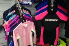Kids and adults wetsuits and rash shirts available at Whitianga sports shop