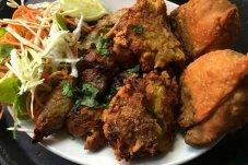 Mixed platter at Sangam Restaurant