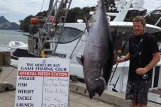 Mercury Bay Game Fishing club weigh in Whitianga wharf