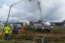 Whitianga Concreting concrete truck laying house foundations