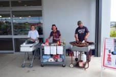 Countdown supports Fundraising sausage Sizzles