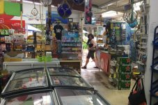 Grocery and convenience items inside Hahei store