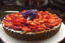 Strawberry flan the French Fig Catering Whitianga