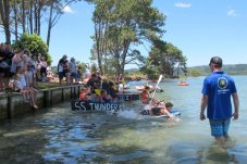 Cardboard cup racing Matarangi Beach Summer Festival