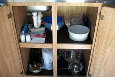 Everything required for cooking and washing up is supplied