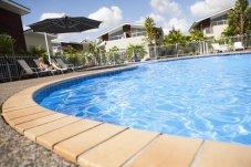 Oceans Resort Whitianga poolside facilities.