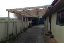 Carport constructed by B-Row Project Whitianga