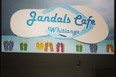 Our big jandal sign at Jandals Cafe, Whitianga