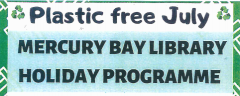 Mercury Bay Library  School Holiday Programme
