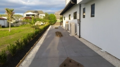 Concrete path with decorative cut outs Whitianga Concreting Ltd