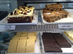 Variety of slices Bay Bakery Whitianga