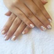 Elegant Wedding nail art for the bride