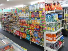 Sweets, chips & soft drinks Whitianga Four Square supermarket Coromandel Peninsula