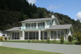 Two storegy home Build by Ohlson and Whitelaw builders Ltd Whitianga