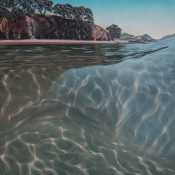 Submerging oil painting by Jacqueline Elley at Bread and Butter Gallery