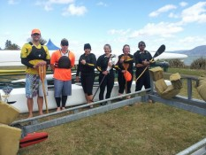 Community Waka Ama Whitianga Group Paddlers