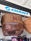 Baskets and Giant bike accessories at the Bike Man Shop Whitianga