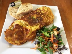 Fresh omelette Cafe Nina Whitianga