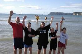 We did it! Mercury Bay Polar Swim challenge Whitianga