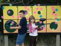 100 paintballs - 50 odd targets.  Go RAMBO!