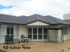 Coloured patio Coastal Concreting