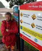 Gary Hinds Hot Water Beach Surf Life Saving near Whitianga