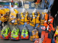 Life jackets at Longshore Marine Whitianga