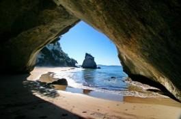 Cathedral Cove, Coromandel, New Zealand Beach
