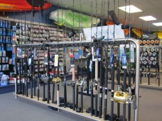 Fishing rods and tackle at Longshore Marine Whitianga