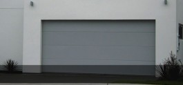 Flatline Smooth Panel sectional Garage doors by Doors 2000 Coromandel