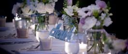 Flower arrangements at Salt Restaurant and Bar Whitianga Wedding Venue