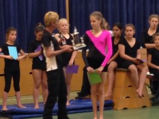 Awards ceremony Mercury Bay Gymnastics