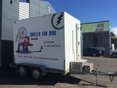 Mobile chiller for hire Coastal Chiller Hire Coromandel Peninsula  and Whitianga