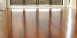Re-sanded Kwila floor with dust free equipment ment no furnishings needed to be removed.