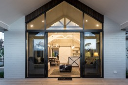 Domestic range sliding doors