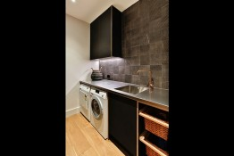 Laundry cabinetry by Mastercraft Kitchens & Cabinetry Whitianga