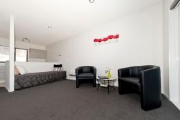 Executive Studio Living/Kitchen Oceanside Motel Whitianga