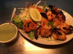 Prawn tandoori dish Sangam restaurant Whitianga